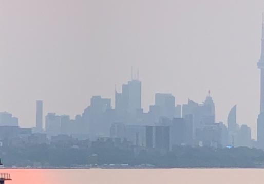 Mala calidad del aire en Toronto y el GTA debido al humo de los incendios forestales