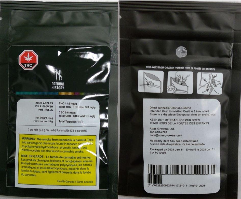 Health Canada saca del mercado tres lotes de productos de cannabis contaminados.