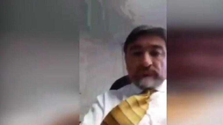 Bernal Acero dijo que lo extorsionaban y amenazaban con publicar el video.