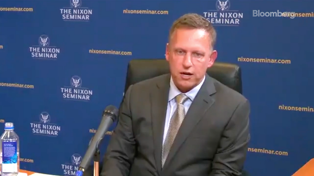 "Peter Thiel define al Bitcoin como ""un arma financiera china""."