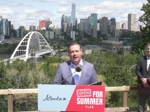 Alberta levantará casi todas las restricciones COVID-19 el día de Canadá