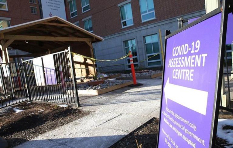 El Centro de Evaluación COVID-19 en el Hospital Mackenzie Richmond Hill el miércoles.