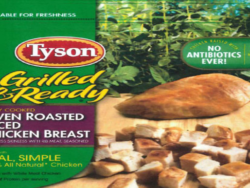 Tyson Foods retira casi 4.500 toneladas de productos de pollo del mercado
