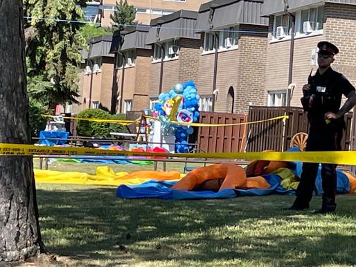 Disparos en una fiesta de cumpleaños en Rexdale dejan a tres niños heridos