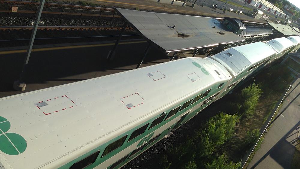 Foto de archivo de un tren GO el 7 de agosto de 2015.