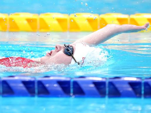 Medalla de plata paralímpica para Canadá en la competencia de natación de 100 metros de espalda