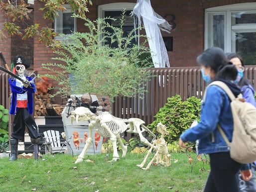 Un halloween diferente en los puntos críticos COVID-19