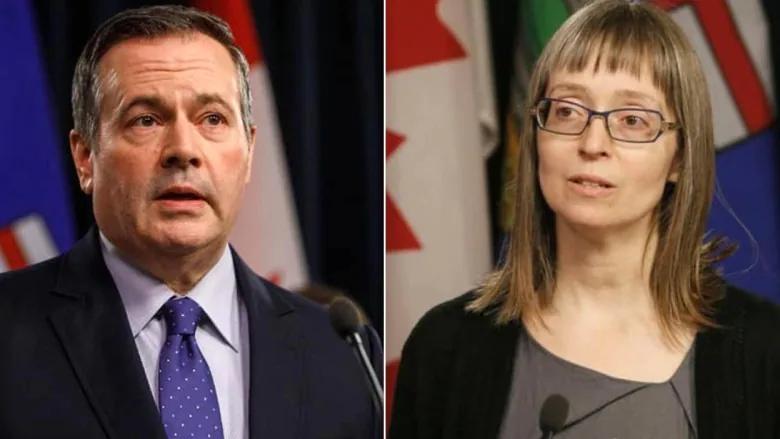 El premier Jason Kenney y la Dra. Deena Hinshaw, directora médica de salud de Alberta, se unieron a los ministros de salud y justicia de la provincia en la actualización de COVID-19 del martes por la tarde.