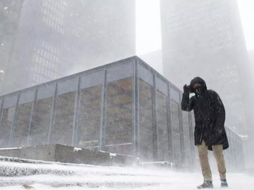 Toronto rompe un récord diario de nieve el domingo