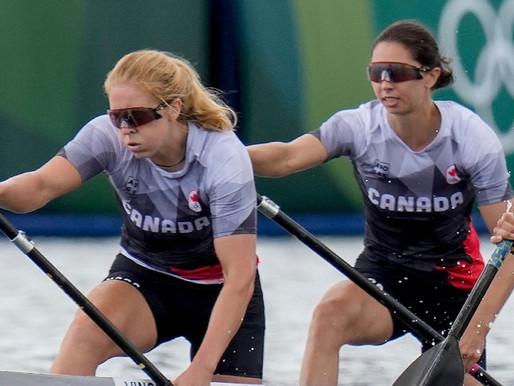 Canadá gana el bronce en la carrera femenina C2 de 500m en los Juegos Olímpicos de Tokio