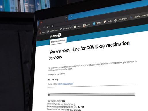 La vacunación COVID-19 sin OHIP no es posible a través del portal provincial