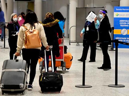 Algunos viajeros están violando la Ley de cuarentena obligatoria