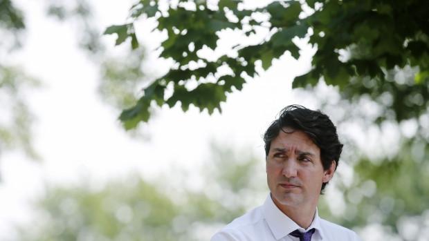 Justin Trudeau, primer ministro de Canadá, durante una conferencia de prensa sobre cuidado infantil en Montreal, Quebec, Canadá, el jueves 5 de agosto de 2021.