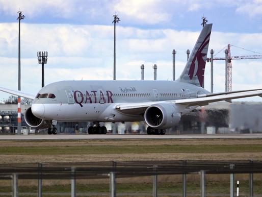 Qatar Airways opera el primer vuelo completamente vacunado contra el COVID-19