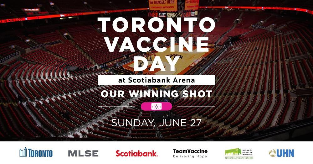 La clínica de vacunación en Scotiabank Arena establecerá un récord en América del Norte.
