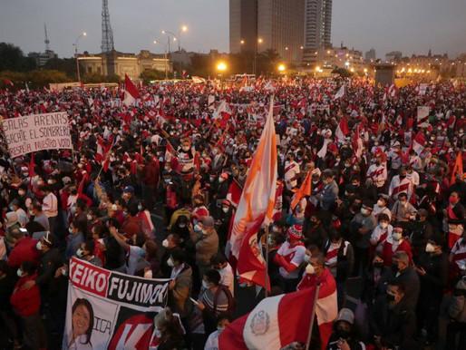 """Socialistas peruanos celebran la """"victoria electoral"""" mientras los conservadores siguen luchando"""