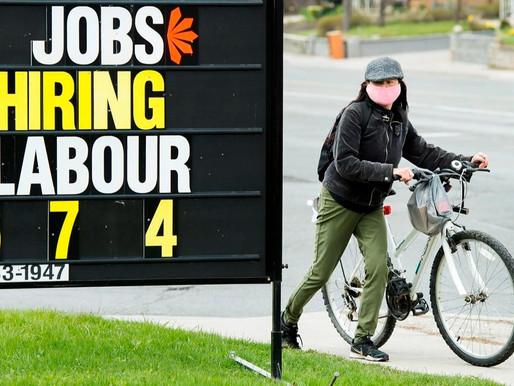 Economía canadiense agrega más de 60 mil empleos