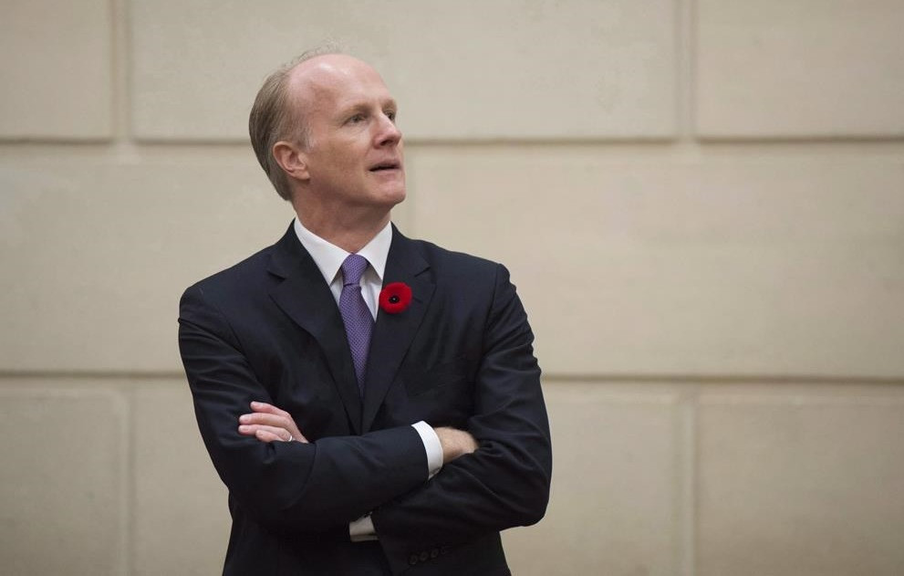 El presidente y director ejecutivo de la Junta de Inversiones de Planes de Pensiones de Canadá, Mark Machin, fotografiado en Parliament Hill, en Ottawa, el 1 de noviembre de 2016.