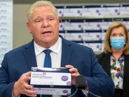 Ontario aumentará las pruebas rápidas covid-19