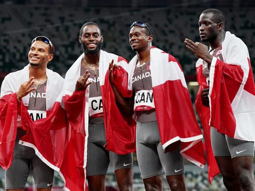La medalla que Canadá obtuvo en los relevos  masculinos de 4x100m podría ser mejorada
