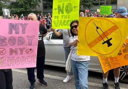 Manifestaciones contra las vacunas ante el anuncio de los certificados de vacunación