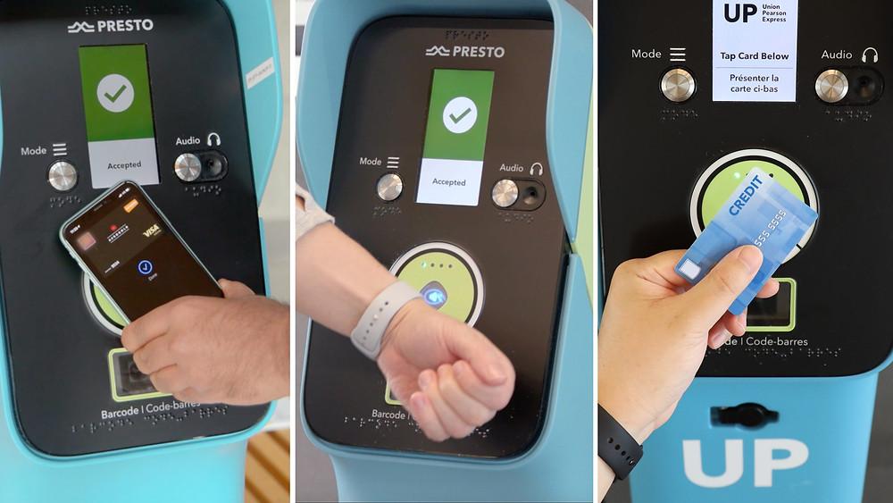 Metrolinx está lanzando su programa piloto de pago móvil que permite al cliente usar su teléfono, reloj o tarjeta de crédito para pagar un viaje.