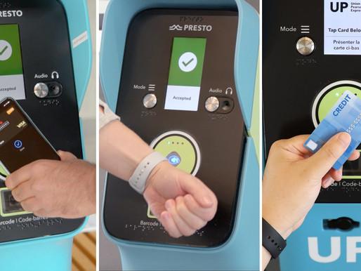 Nueva opción de pago con tarjeta de crédito y  sin contacto llega a Metrolinx
