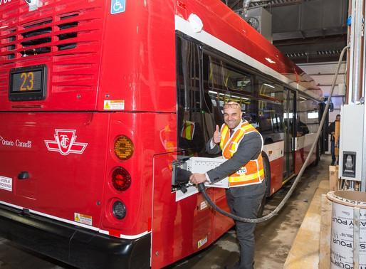 TTC avanza con su flota de autobuses eléctricos