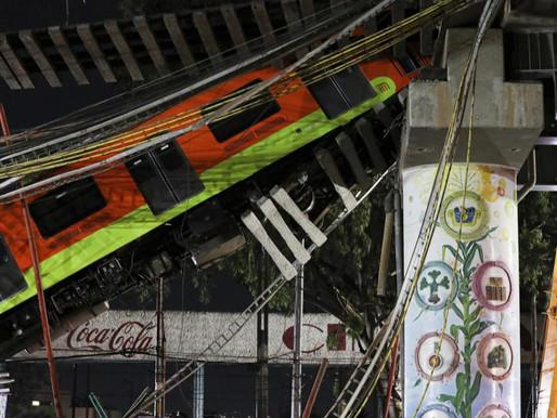 Puente elevado del metro de Ciudad de México se desploma y deja al menos 20 muertos