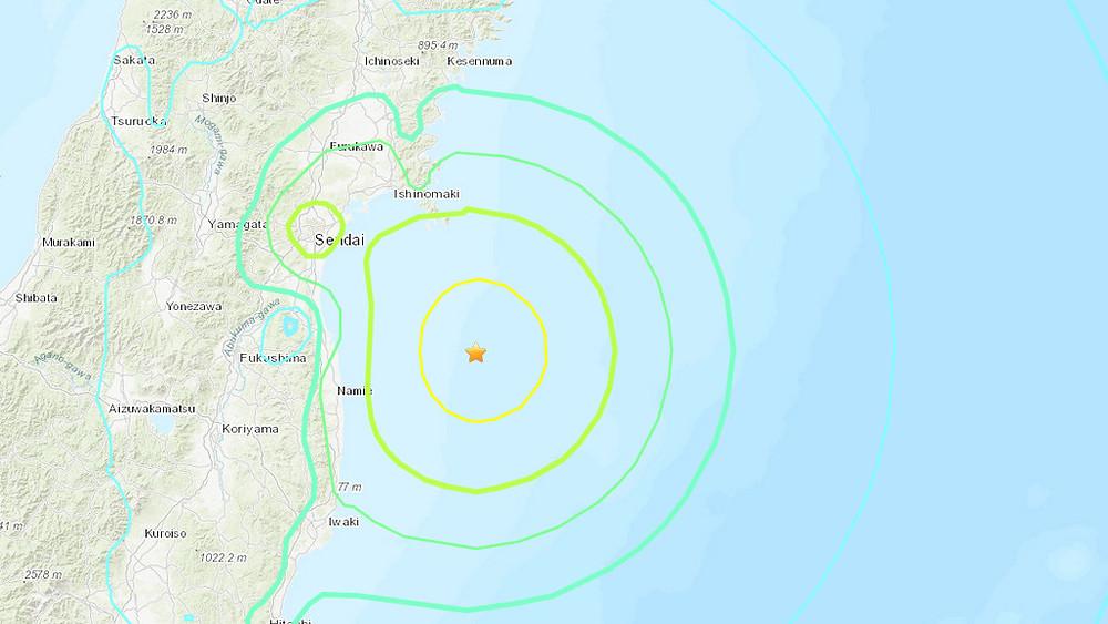 Fuerte sismo golpea la costa noreste de Japón; sin alerta de tsunami.