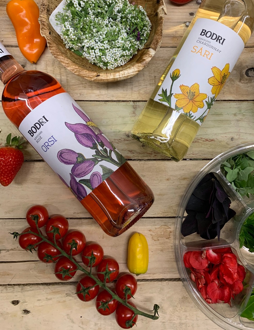 Bodri, Orsi rose - 2019  We can highly recommend this rounded blend rose wine for those who enjoy refreshing, fruity flavours. Its Mediterranean aroma makes it similar to the long gone 'Siller'.     Great companion to fish dishes and salads. Best served 8-10 C  Best served at 8-10 °C  750ml  12% ABV