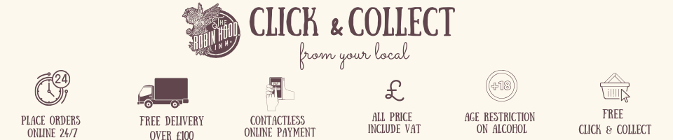 click and collect, place orders online, free delivery over £100, free local delivery