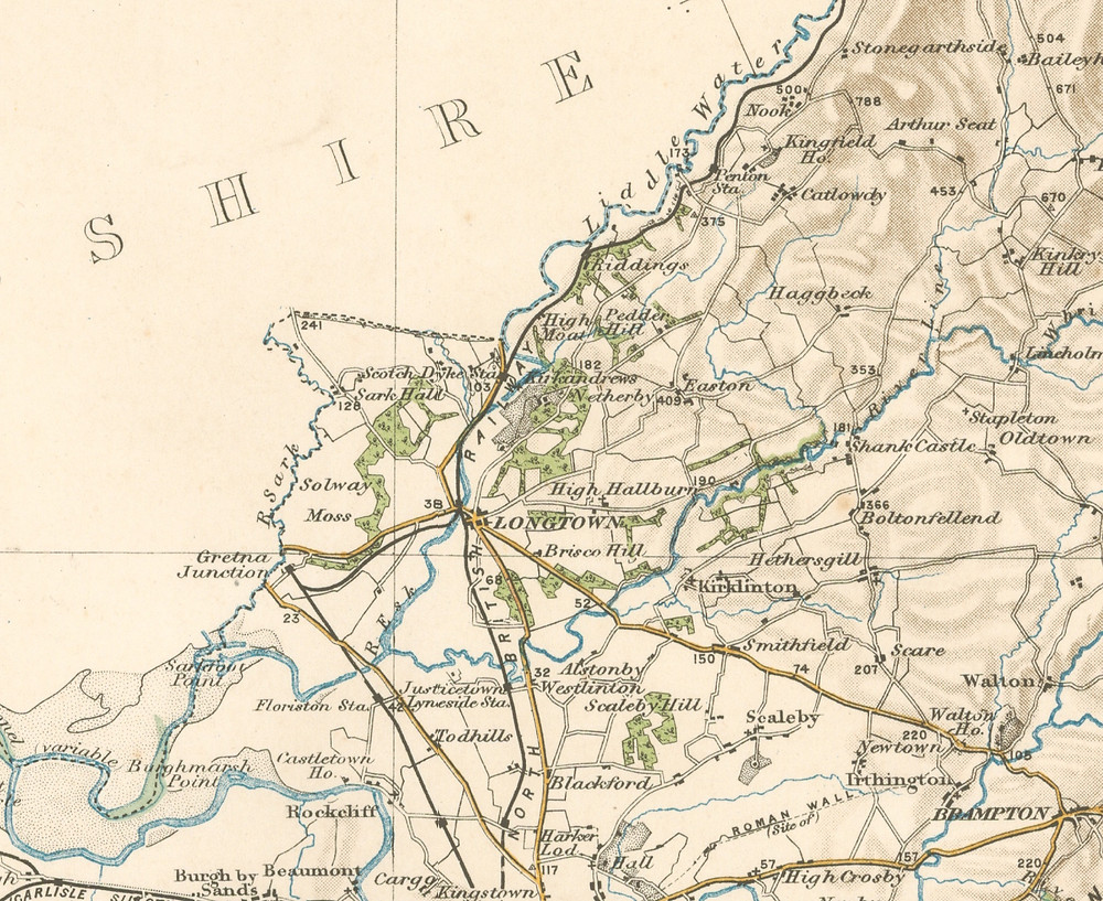 Vision of Britain 1904 Map of Cumberland, Kirklinton, Smithfield