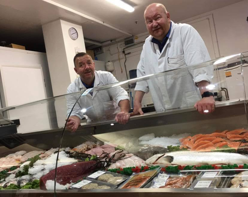 Neil and Mark's aim is to buy fresh quality fish and shellfish from as close as the Solway to  as far away as the Seychelles.     The main trade of the Fish Cellar, at the Devonshire Arcade in Penrith, is retail customers although they supply a few pubs, restaurants and hotels who themselves set high standards like they do.  Craig has known these guys for years, and from 2019 the Fish Cellar provides the ' Catch of the day' in Smithfield.