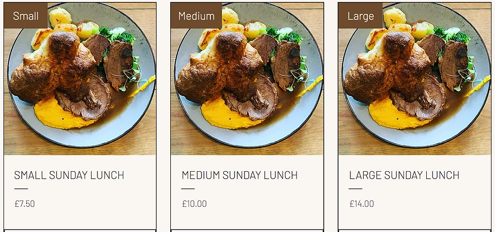 Order your take-away Sunday roast dinner to enjoy with the family. Traditional pot roast Brisket, served with Yorkshire pudding, carrot & swede, green vegetables, roast potato and real gravy
