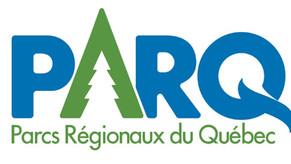 Dévoilement du nouveau logo de l'Association des parcs régionaux du Québec