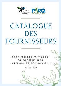 page couverture Catalogue des fournisseu