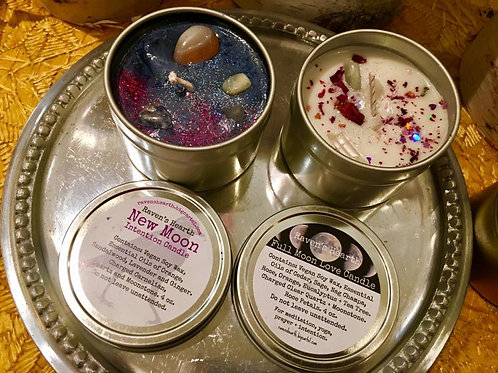 Raven's Hearth Candle Tins