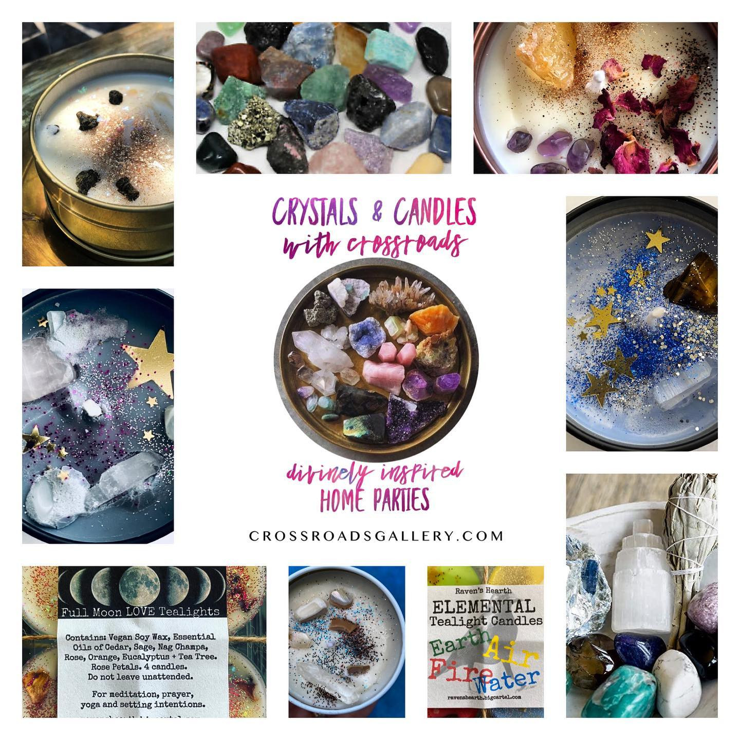 Crystals & Candles with Crossroads