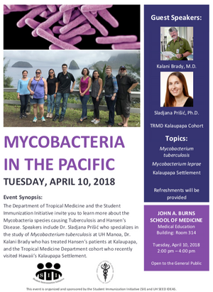 Upcoming Event:                Mycobacteria in the Pacific