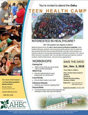 Teen Health Camp 2018