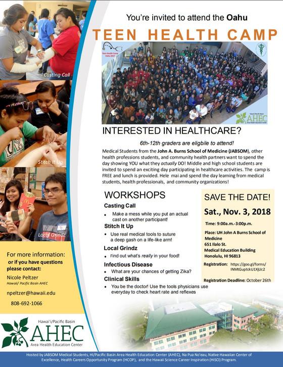 Teen Health Camp 2018