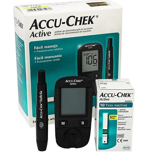 Kit Medidor de Glicose Active ACCU-CHEK