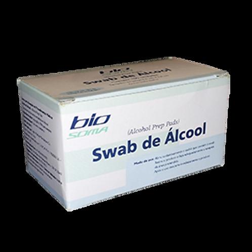 Alcool Swab Pads com 100 Unidades BIOSOMA