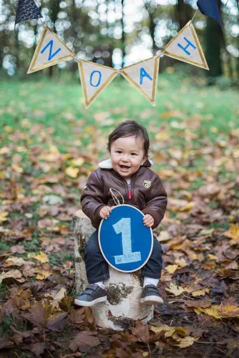 Noah Is One | Hoyt Arboretum Family Session