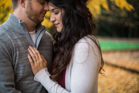 Aaron + Genaveve | Wilsonville Oregon | Rustic Fall Engagement Session