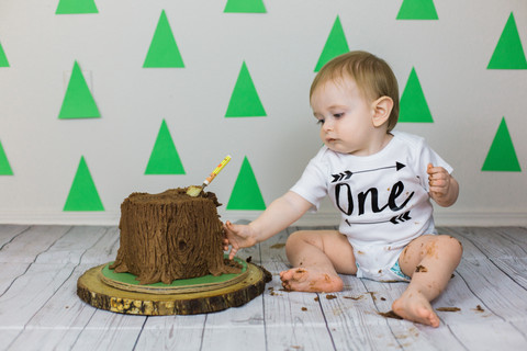 Jude is One | Woodland Themed Cake Smash | Portland, Oregon