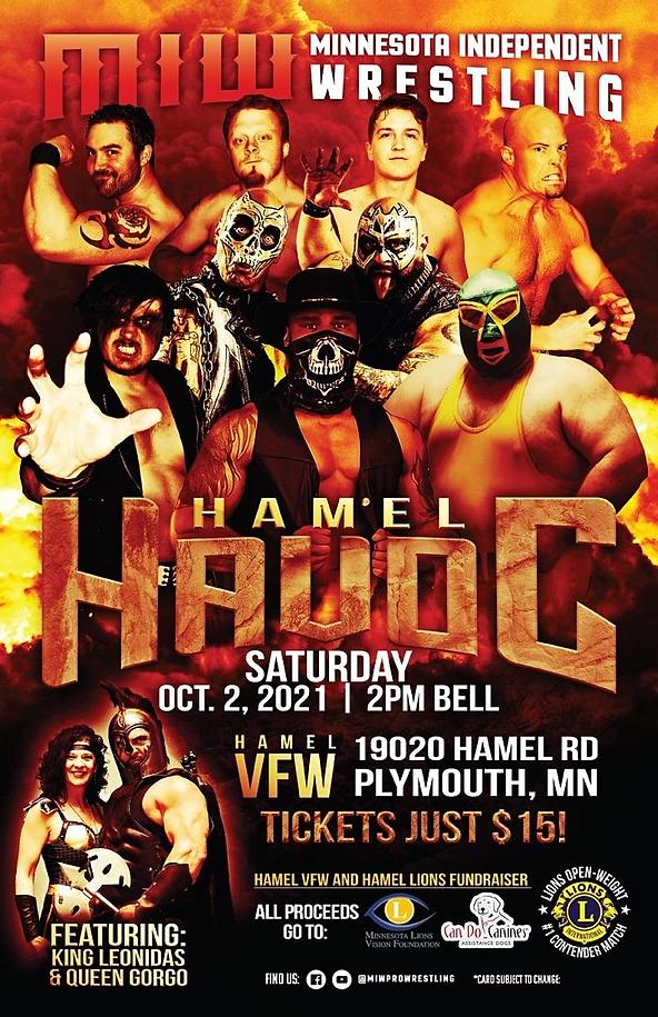 Hamel Lions and Minnesota Independant Wrestling Oct 2, 2021