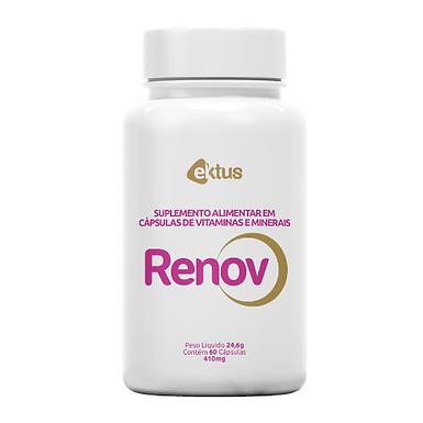 Renov - Biotina com Vitaminas e Minerais para cabelos, pele e unha - 60 cápsulas