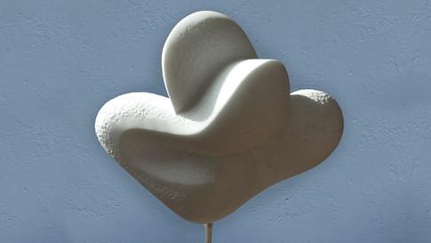 Freie Form. Statuario puro. Italienischer Marmor.